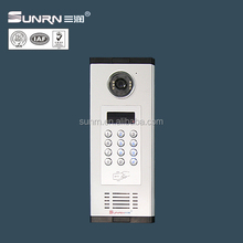 RJ45 interface video door phone intercom system supporting management center unit