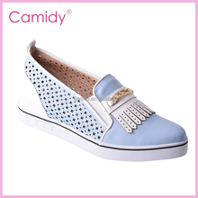 2016 Women Silver Flats Heels Comfortable Pointy Toe PU Lady Shoes