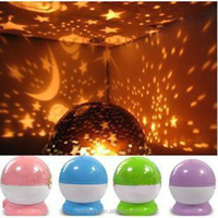 Home Decro for Kids USB Rotary Star Master Moon Sky Projector LED Night Light