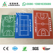 standard badminton court sizes for Silicon PU badminton court surface flooring