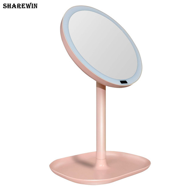 Rechargeable Rotation 1x/7x Magnifying LED Makeup Mirror Motion Sensor Light Mirror