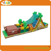 Jungle fun outdoor and indoor inflatable obstacle course,inflatable course