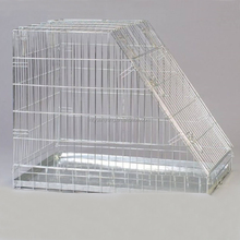 sloping dog cage metal plate pet kennel dog car cage