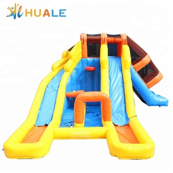 Cheap inflatable small pool bouncy castle water slides