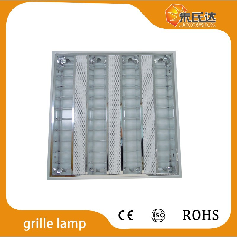 T5 louvered reflector troffer office fluorescent ceiling light fixture