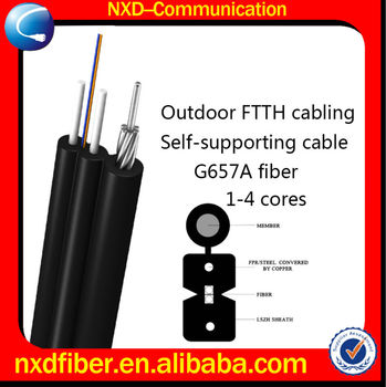 2-12 Cores Outdoor FTTH Fiber Optic Cable
