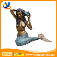 Life size Bronze Mermaid Maiden Fountain Sculpture