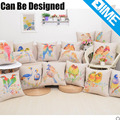 Fashionable flower and birds design wholesale decorative motivational pillow covers