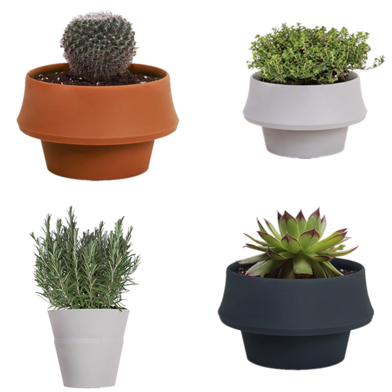 Christmas Gift Item Garden Flower Pot Simple Silicone Flower Pot