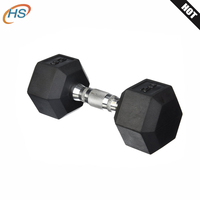 Factory Price Wholesale Rubber Hex Dumbbells
