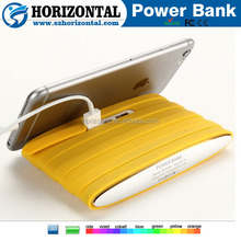2015 new power bank Silicone power bank 8000mah ,Mobile phone stand for iphone 5 power bank with beautiful box