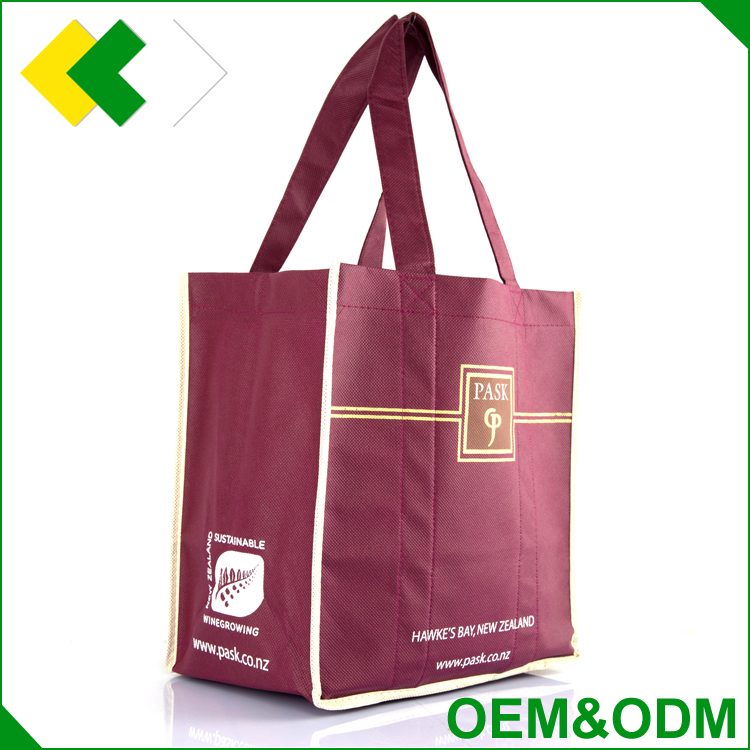 2017 OEM /ODM quality free sample wine bag Wholesale cheap wine tote bag in cotton, laminated material,aluminum foil