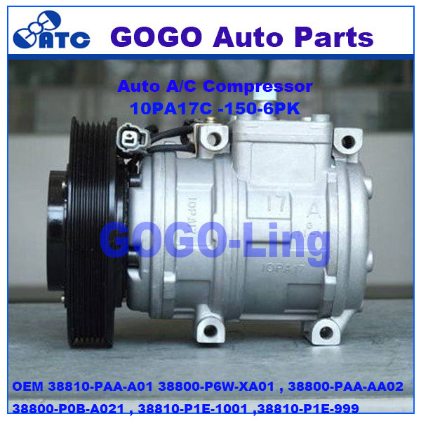 10PA17C air compressor for <strong>Acura</strong> CL Honda Accord OEM 38810-PAA-<strong>A01</strong> 38800-P6W-XA01 ,38800-PAA-AA02,38800-P0B-A021 ,38810-P1E-1001