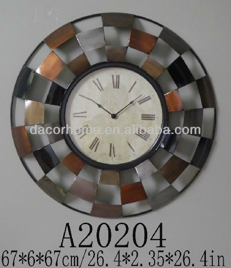 Iron Euro Style -Carved&Welding hollow digital Wall Clock