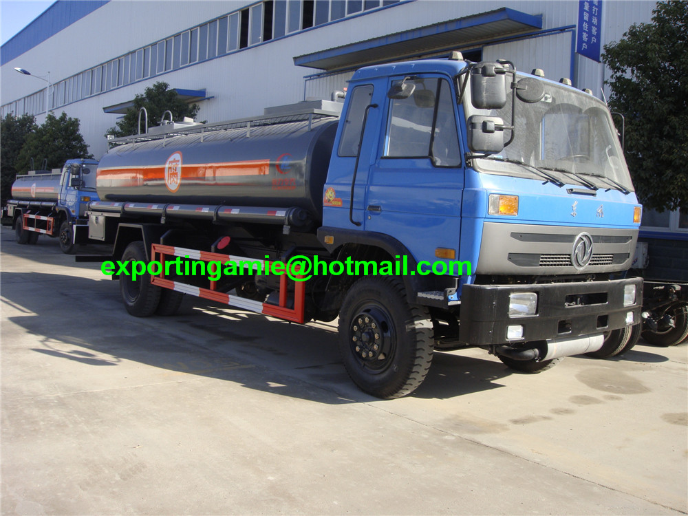 15m3 cheapest dongfeng 6 wheel chemical tanker truck for sale