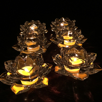 High Quality Customize Lotus Crystal Votive Pair Candle