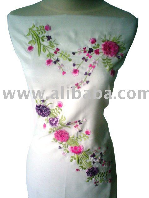 MANUAL EMBROIDERY APLIQUE FABRIC/ KAIN SULAM SUJI