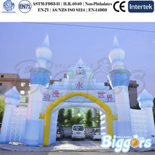 Giant Entrance Advertising Inflatable Arch For Winter Christmas Event