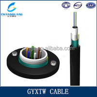 Hot sale lighted armored outdoor GYXTW 12 core multi mode fiber optic cable