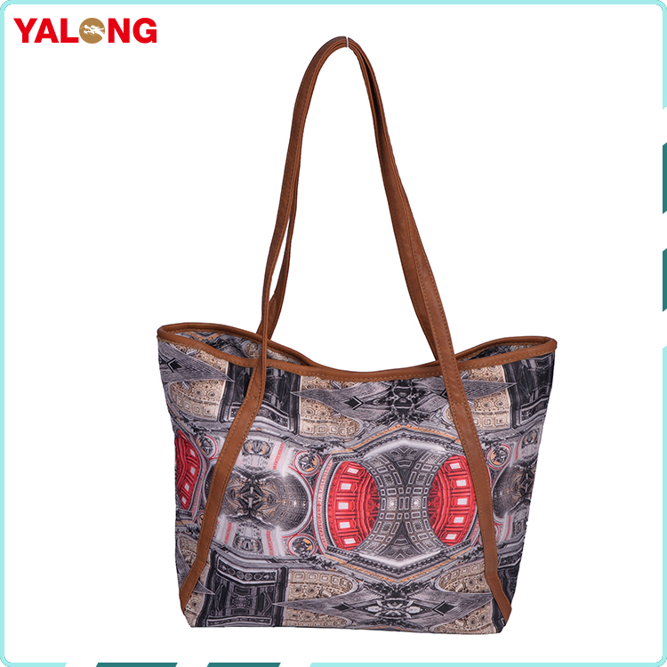 Manufacturer promotional modern colorful printing neoprene custom tote shopping bag