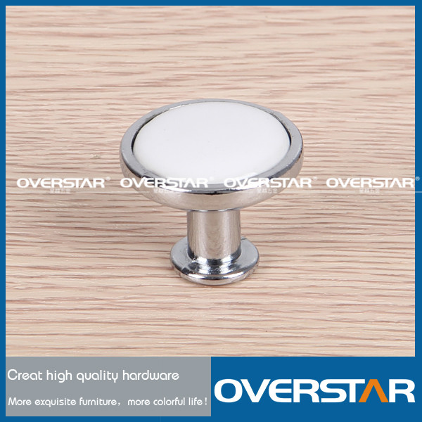 Modern Zinc Alloy&White Ceramic Cabinet Door Knobs