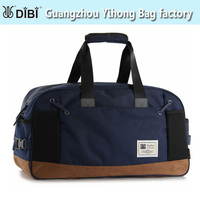 fashion cotton fabric nubuck leather travel duffle bag