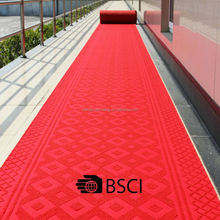 Non-Skip Heavy Duty Red Carpet For Wedding