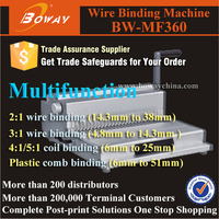 MF360 4 in 1 book machine wire / comb/ plastic coil / spiral metal binding