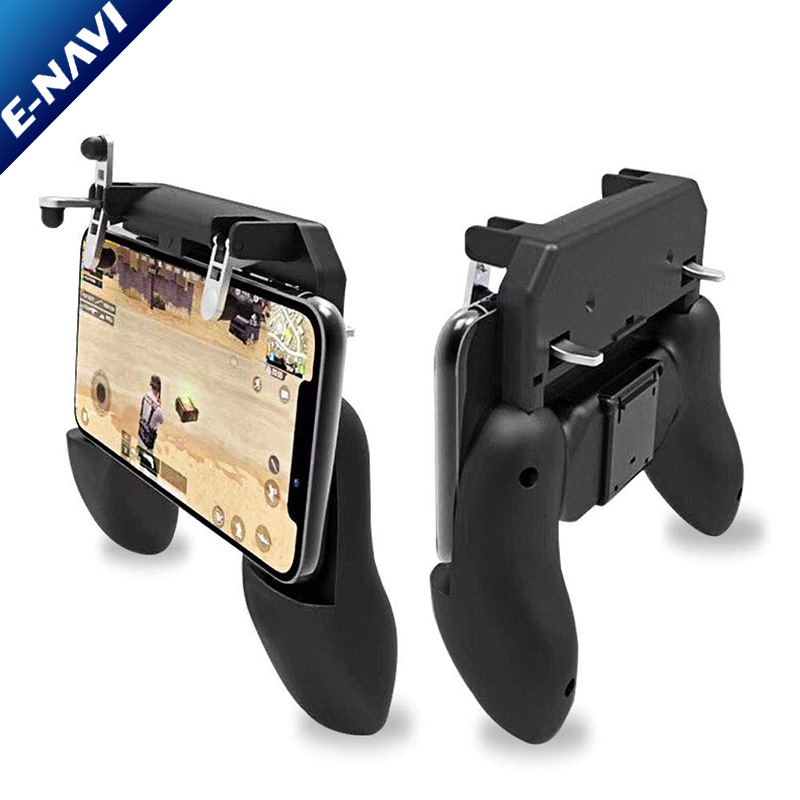 2019 Newest W10 Game Handle Sensitive Shoot Aim Buttons PU BG Mobile Game Joystick