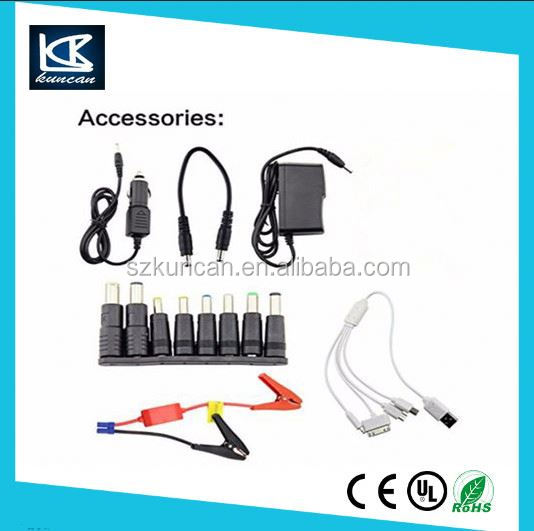 Portable Car Battery Jumper Cables Jump Starter Battery 15000mAh 12V