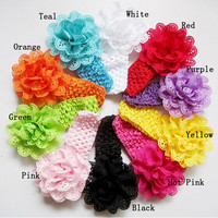 Classic little girl make fabric flower headband
