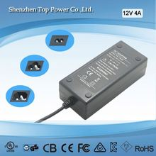 3 years warranty AC to DC Adapter 100 to 240VAC 12V 4A 48W Desktop type switching power supply