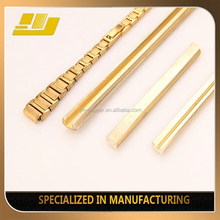 Shining Golden Custom Made Brass Extrusion Profile Pocket Chain Design Watch