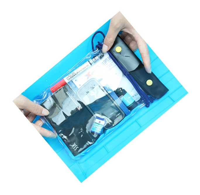 China wholesale Transparent wateproof bag for iPad mini