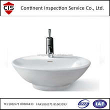 washbasin/washbowl pre-shipment inspection/100% inspection/Loading check