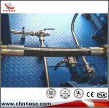 Cloth and smooth surface iso flex hydraulic hose