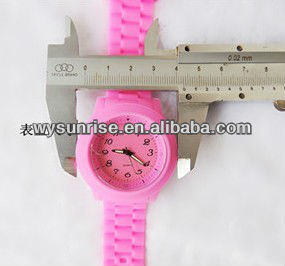 silicone rubber strap watches women fashion printing logo