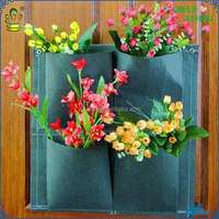2014 Best-selling High-quality Hanging Flower Wall Container, Hainging Non-woven Plant Bag