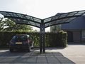 Lanyu fashionable design aluminum car garage sun shelter