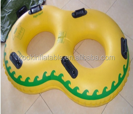 Aqua swimming sports 2 persons inflatable pvc water river tube float
