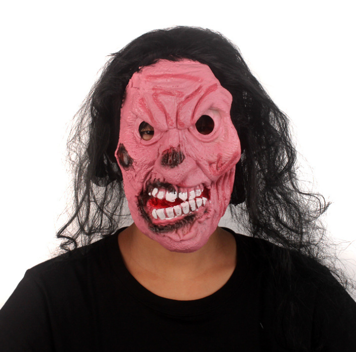 YIWU caddy HP-44 Halloween Horror Mask Grimace Hoods Monolithic Whole People Screaming Devil