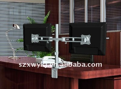two arms full motion desk vision mount&office monitor bracket