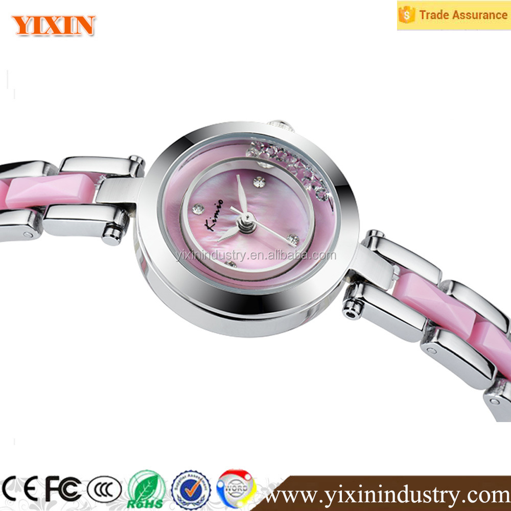 women's slim sharp rotating dial watch with alloy strap