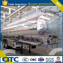 Yuantong CITC 3 axles 42cbm aluminum round fuel tank trailer for sale