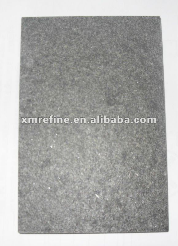G588 Black Granite flamed and brushed surface
