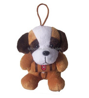 Low cost 12cm other animal style cute dog keychain toys