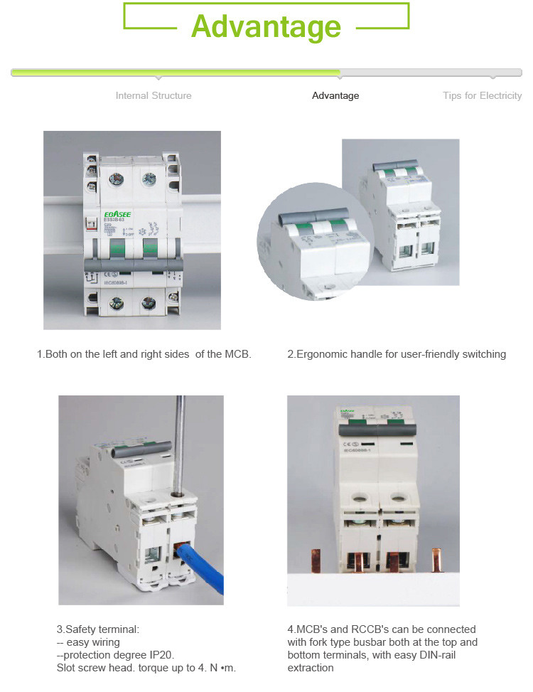 New arrived Best price quality 4 pole 20 Amp Miniature Circuit Breaker MCB Price