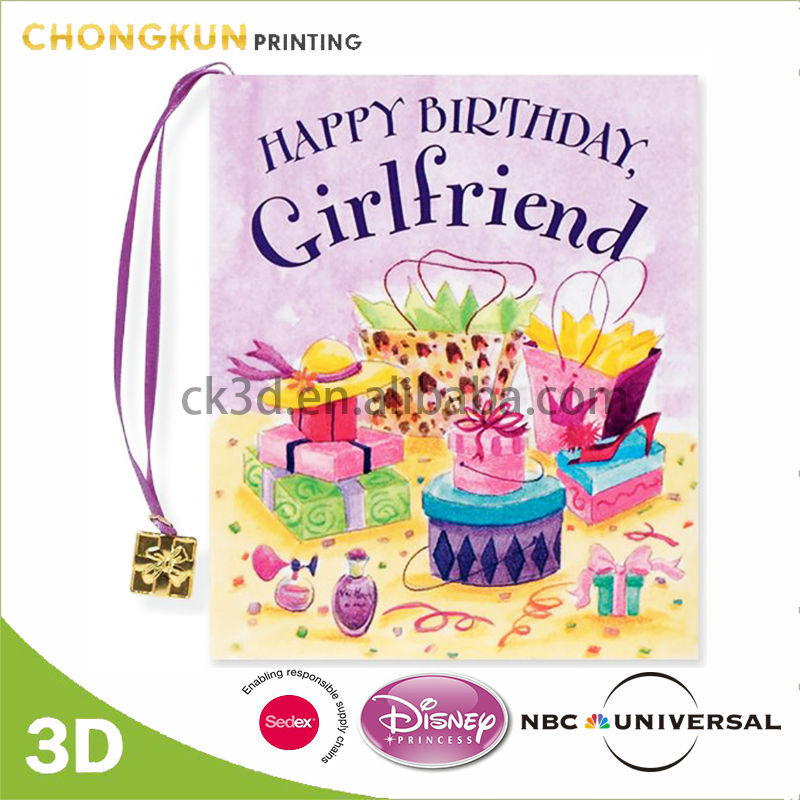 Supply Happy Birthday Designs Handmade 3D Greeting Card