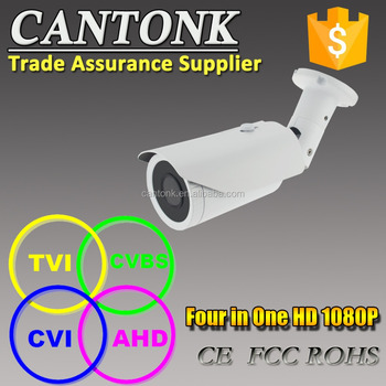 4 in 1 1080P AHD CVI TVI CVBS 2.8-12mm Varifocal Auto Iris Lens Waterproof CCTV Camera