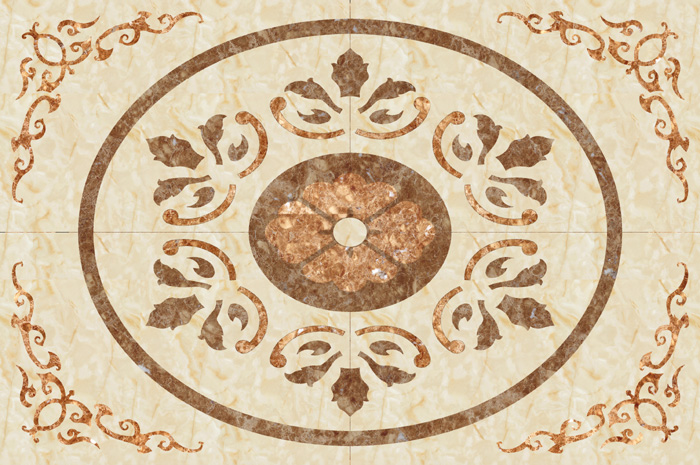 good quality rectangular marble floor medallions designs with great price